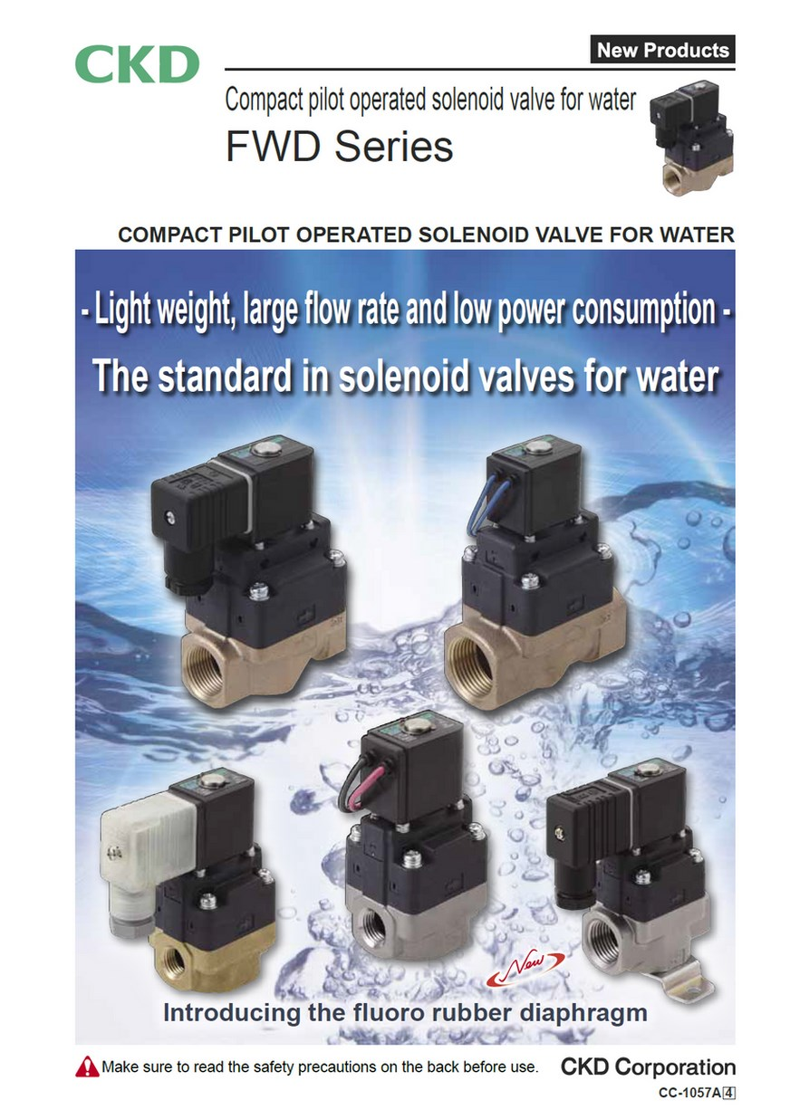Compact Pilot Operated Solenoid Valve For Water FWD Series